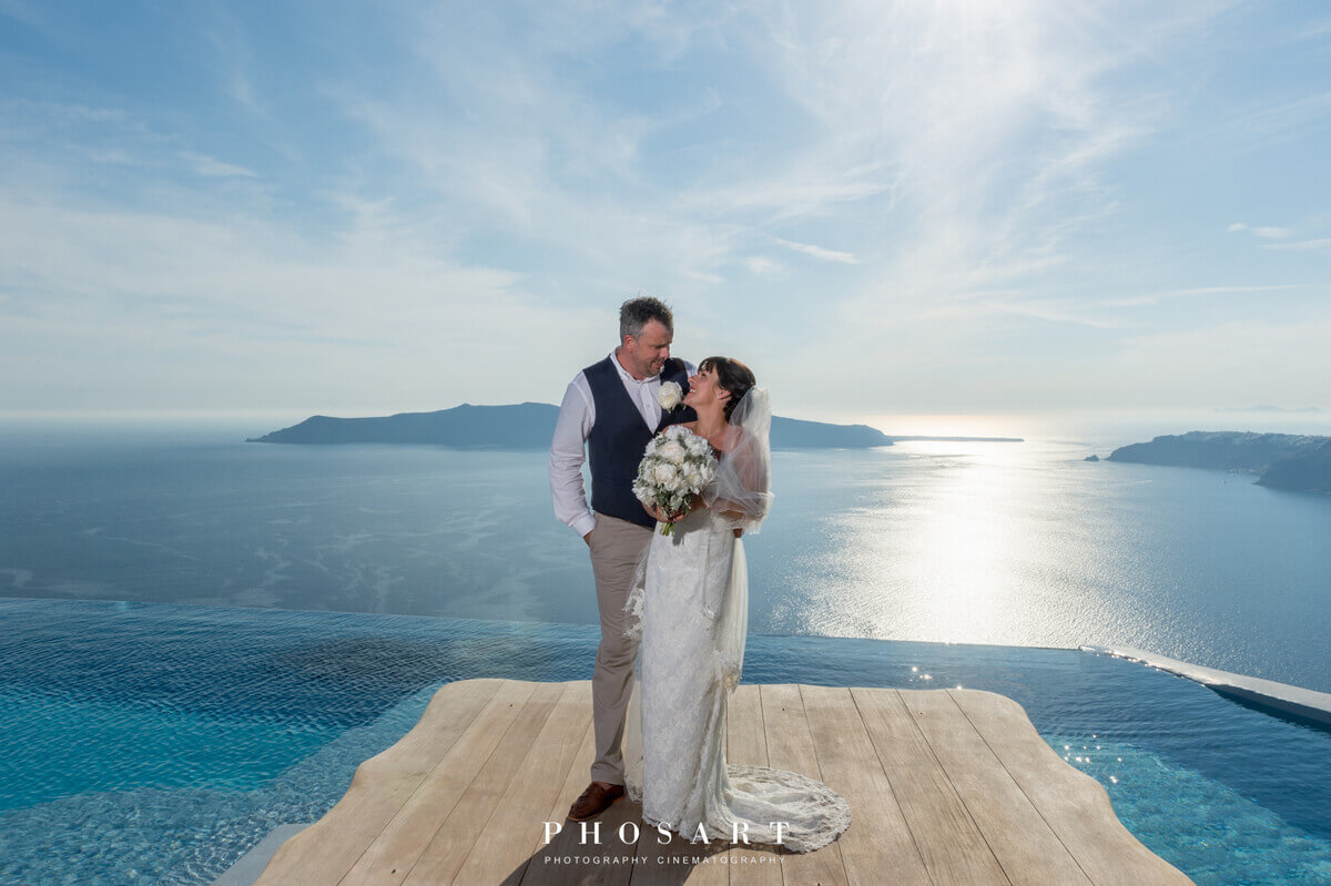 Santorini Wedding at Cavo Tagoo in Santorini by The Bridal Consultant