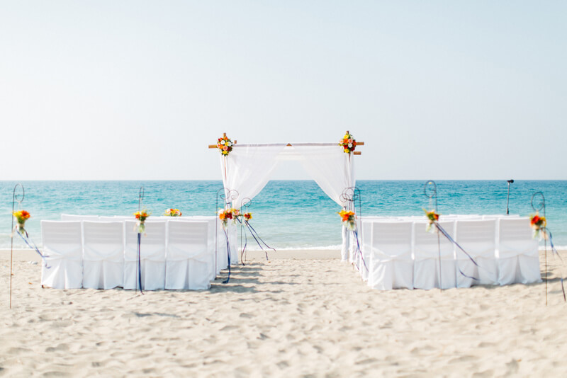Beach Wedding By the Bridal Consultant